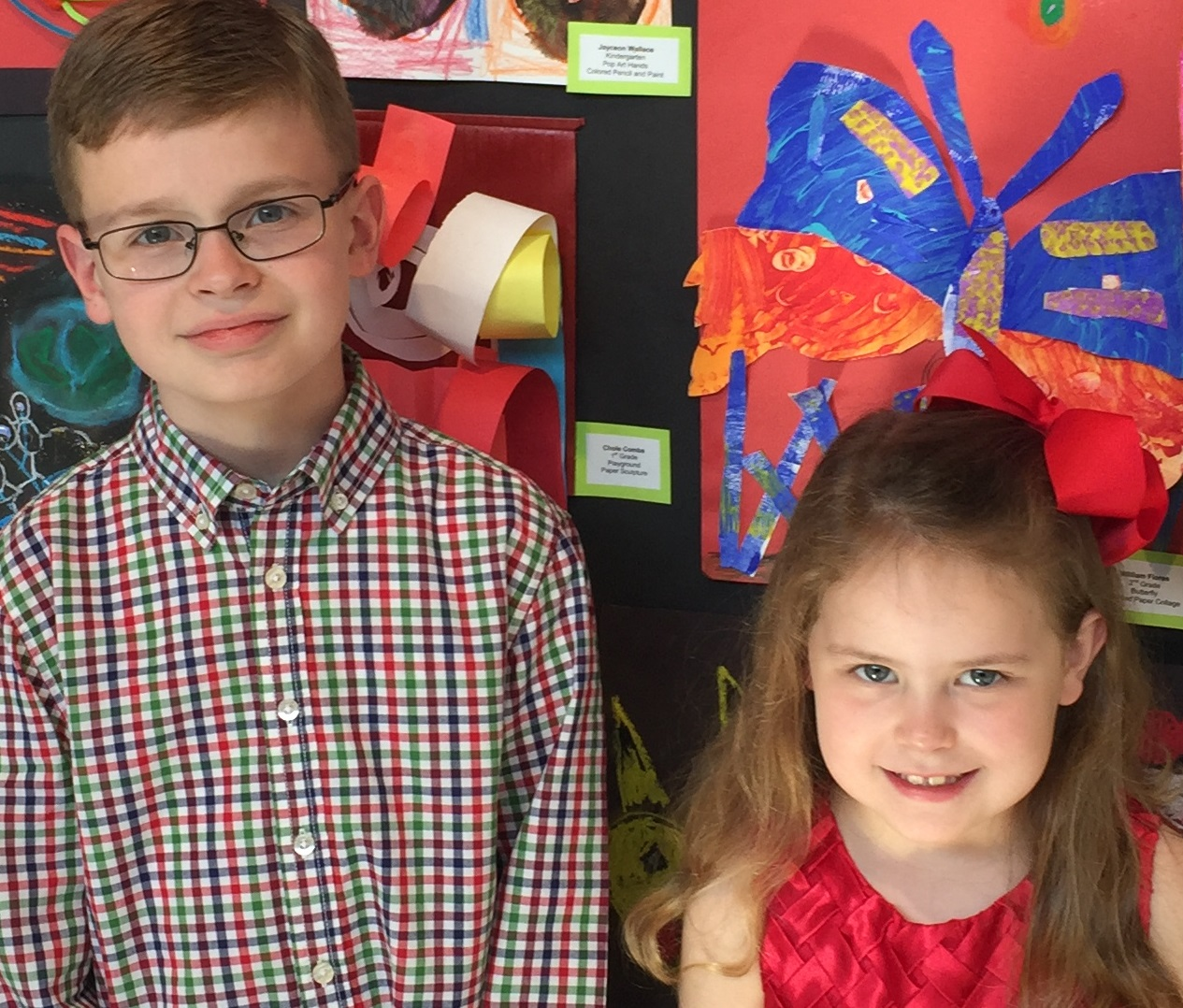 Siblings show off their art!